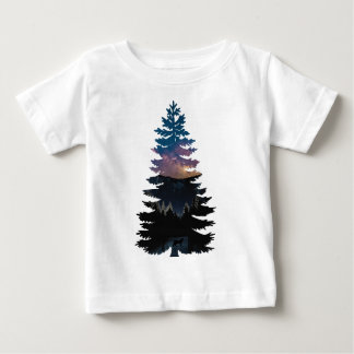 Lynx in the Pines under a Starry Night Baby T-Shirt