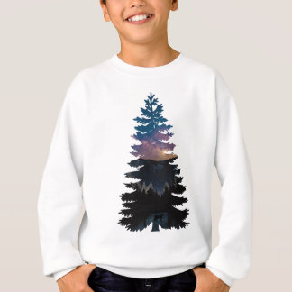 Lynx in the Pines under a Starry Night Sweatshirt