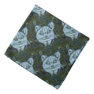 Lynx Patterned Bandana