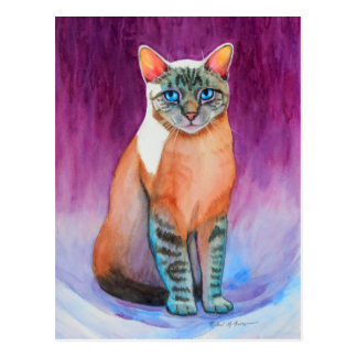 Lynx Point Siamese Cat at Kitty Angels Postcard