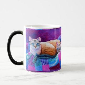 Lynx Point Siamese Cats Magic Mug