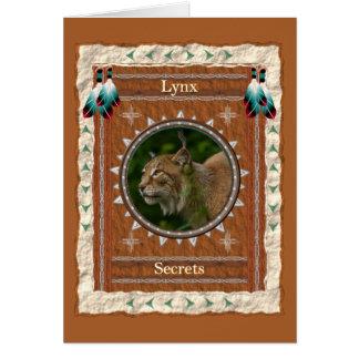Lynx  -Secrets-  Custom Greeting Card