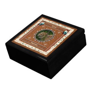 Lynx  -Secrets-  Wood Gift Box w/ Tile
