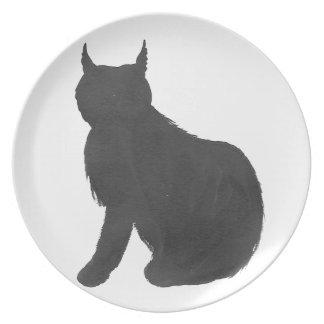 Lynx Silhouette Plate