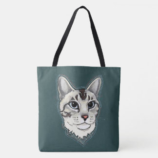 Lynxpoint Siamese Cat tote bag