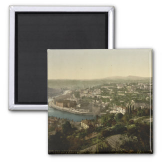 Lyon Cityview, France Square Magnet