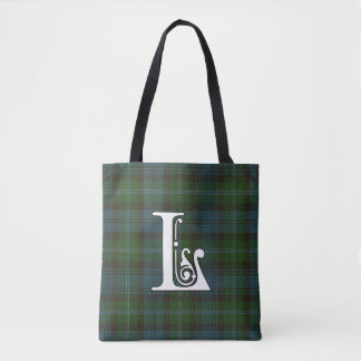 Lyon Clan Tartan Monogram Tote Bag