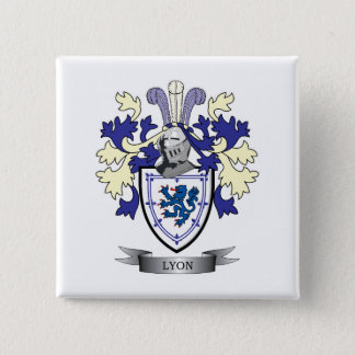 Lyon Family Crest Coat of Arms 15 Cm Square Badge