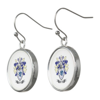 Lyon Family Crest Coat of Arms Earrings
