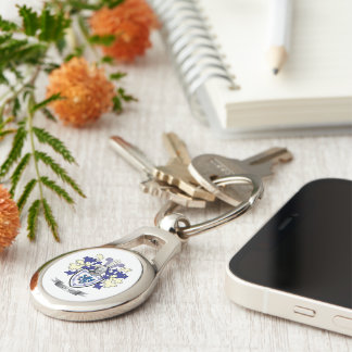 Lyon Family Crest Coat of Arms Key Ring