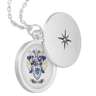 Lyon Family Crest Coat of Arms Locket Necklace