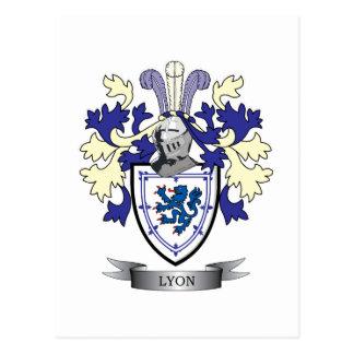 Lyon Family Crest Coat of Arms Postcard