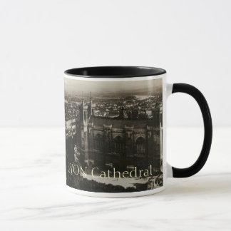 Lyon France Postcard Basilica of Fourviere Mug