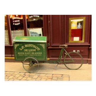 Lyon, France Postcard. Bicycle, Cobble Streets Postcard