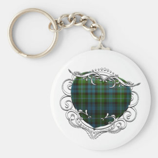 Lyon Tartan Heart Key Ring
