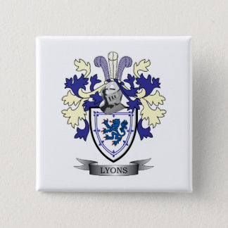Lyons Family Crest Coat of Arms 15 Cm Square Badge