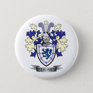 Lyons Family Crest Coat of Arms 6 Cm Round Badge
