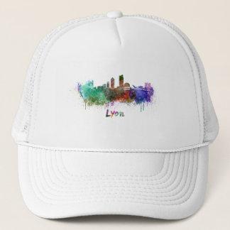 Lyons skyline in watercolor trucker hat