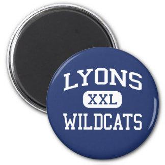 Lyons Wildcats Middle School Clinton Iowa 6 Cm Round Magnet