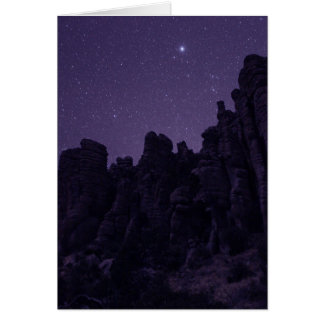 Lyra shining over Chiricahua National Monument Pho Card