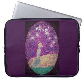 Lyric Fantasy Nightingale Choose Background Color Laptop Sleeve