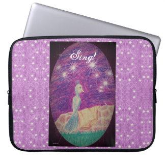 Lyric Fantasy Nightingale Starry Background Laptop Sleeve
