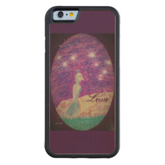 Lyric Fantasy Nightinggail Choose Background Color Carved Maple iPhone 6 Bumper Case