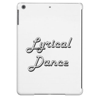 Lyrical Dance Classic Retro Design iPad Air Cover