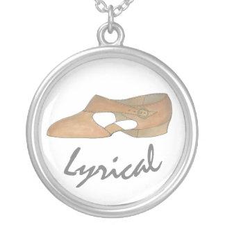 Lyrical Tan Modern Dance Teacher Shoe Recital Gift Silver Plated Necklace
