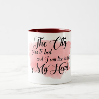 "Lyrical Watercolor Mug ""The City Goes to Bed"""