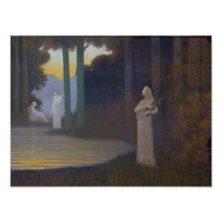 Lyricism in the Forest, 1910 Poster