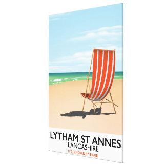 Lytham St Annes Lancashire seaside poster Canvas Print