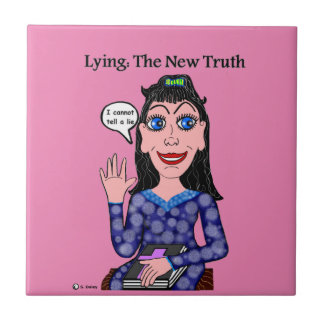 Lyza is Lying: The New Truth Small Square Tile
