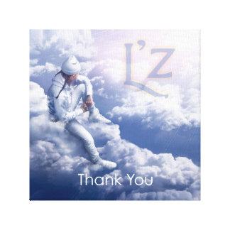 "L'z ""Thank You"" Premium Wrap Canvas 12""x12"", 1.5"" Stretched Canvas Print"