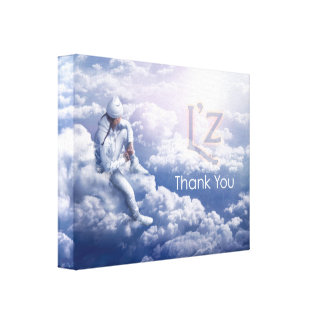 "L'z ""Thank You"" Premium Wrap Canvas 14""x11"", 1.5"" Stretched Canvas Print"