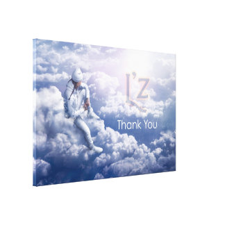 "L'z-""Thank You"" Premium Wrap Canvas 60""x40"", 1.5"" Gallery Wrapped Canvas"