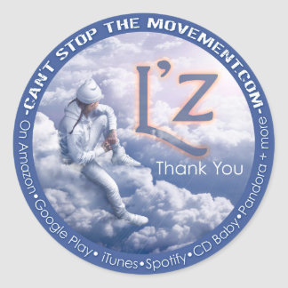 "L'z ""Thank You"" Round Stickers-Glossy Classic Round Sticker"