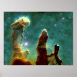 M16 Eagle Nebula or Pillars of Creation Poster