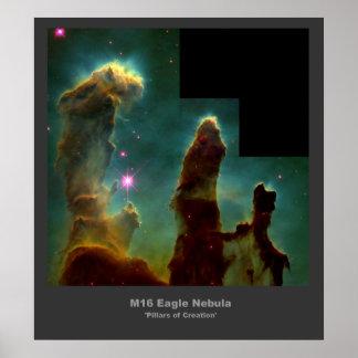 M16 Eagle Nebula 'Pillars of Creation' poster