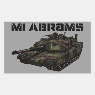M1 Abrams Rectangular Sticker