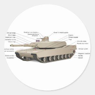 M1 Abrams Tank Round Sticker