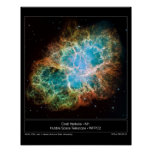 M1 the Crab Nebula Poster