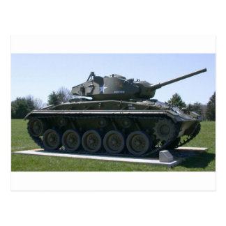 M24 Chaffee Light Tank Postcard