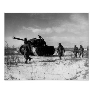 M26 on the Chosin Peninsula Poster