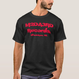 M2DA3RD Records Black & Red T T-Shirt