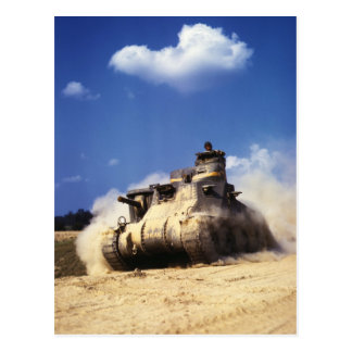 M3 Lee Tank in Training Exercises at Fort Knox Postcard