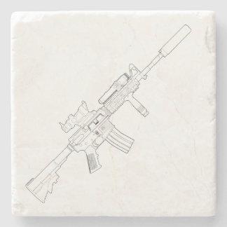 M4 SOPMOD Marble Coaster White Stone Coaster