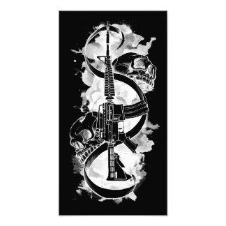 M4 with Skulls Black Photo Print