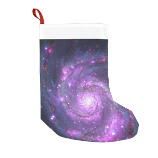 M51 Galaxy Small Christmas Stocking