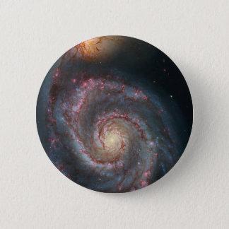 M51 Whirlpool Spiral Galaxy NASA 6 Cm Round Badge